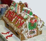 Special gingerbread house by one of the kids